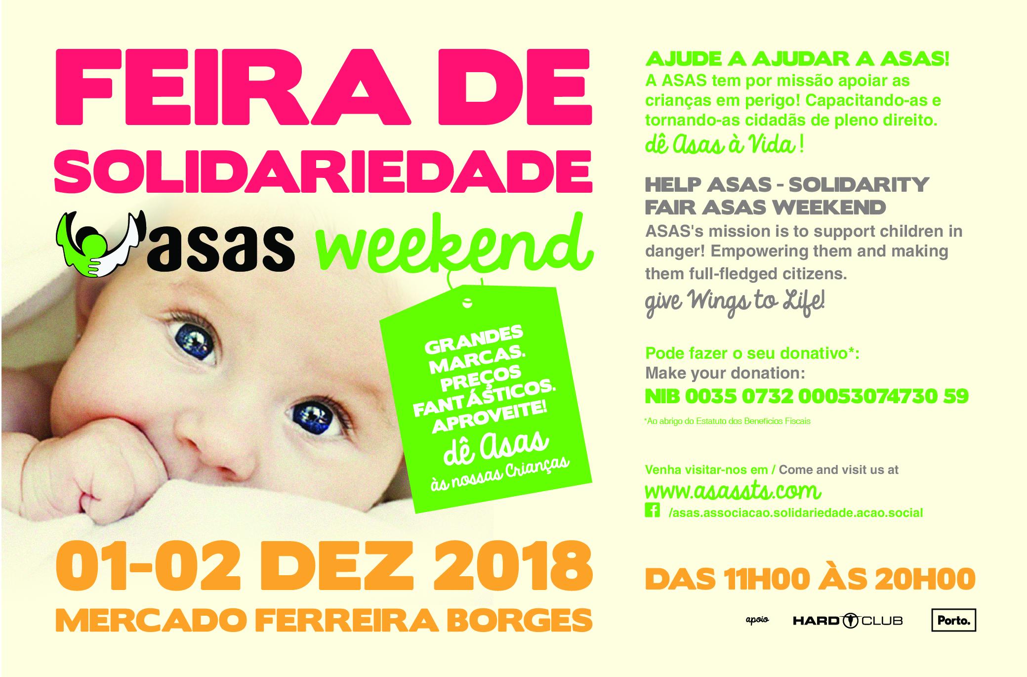 Feira de Solidariedade ASAS WEEKEND :: Mercado Ferreira Borges